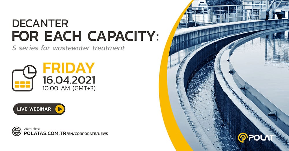 """Webinar: """"Decanter for each capacity: S Series for Wastewater Treatment"""""""